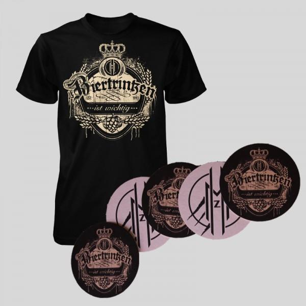 MEGAHERZ BUNDLE T-Shirt mit Bierdeckel